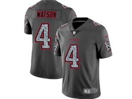Mens Nfl Houston Texans #4 Deshaun Watson Pro Line Gray Fashion Static Vapor Untouchable Limited Jersey