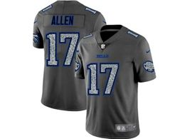 Mens Nfl Buffalo Bills #17 Josh Allen Pro Line Gray Fashion Static Vapor Untouchable Limited Jersey