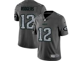 Mens Women Nfl Green Bay Packers #12 Aaron Rodgers Pro Line Gray Fashion Static Vapor Untouchable Limited Jersey