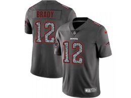 Mens Women New England Patriots #12 Tom Brady Pro Line Gray Fashion Static Vapor Untouchable Limited Jersey