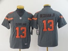 Women Youth Nfl Cleveland Browns #13 Odell Beckham Jr Gray Nike Inverted Legend Vapor Untouchable Limited Jersey