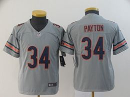 Youth Nfl Chicago Bears #34 Walter Payton Silver Nike Inverted Legend Vapor Untouchable Limited Jersey