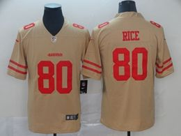 Mens Women Nfl San Francisco 49ers #80 Jerry Rice Gold Nike Inverted Legend Vapor Untouchable Limited Jersey
