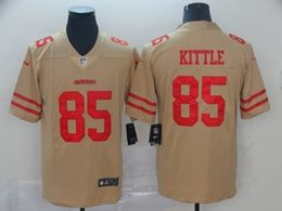 Mens Women Nfl San Francisco 49ers #85 George Kittle Gold Nike Inverted Legend Vapor Untouchable Limited Jersey