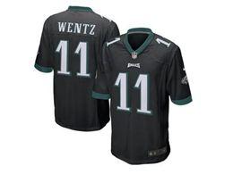 Nfl Philadelphia Eagles #11 Carson Wentz Black Game Jersey