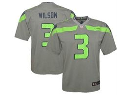 Women Youth Nfl Seattle Seahawks #3 Russell Wilson Gray Nike Inverted Legend Vapor Untouchable Limited Jersey