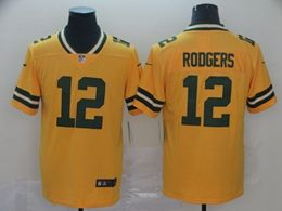 Women Youth Nfl Green Bay Packers #12 Aaron Rodgers Gold Nike Inverted Legend Vapor Untouchable Limited Jersey