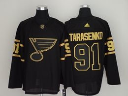 Mens Nhl St.louis Blues #91 Vladimir Tarasenko Black Golden Adidas Jersey