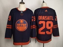 Mens Women Youth Nhl Edmonton Oilers #29 Leon Draisaitl Dark Blue Adidas 50th Jersey