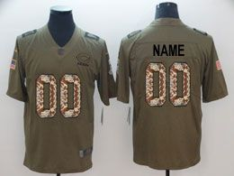 Mens Women Youth Nfl Chicago Bears Custom Made Green Olive Camo Salute To Service Vapor Untouchable Limited Jersey