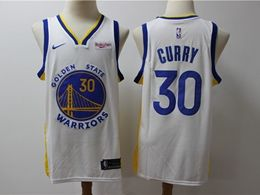 Mens 2019-20 Nba Golden State Warriors #30 Stephen Curry White Nike Swingman Jersey