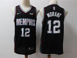 Mens Nba Memphis Grizzlies #12 Ja Morant Black Nike Swingman Jersey