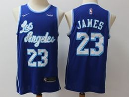 Mens Nba Los Angeles Lakers #23 Lebron James Blue 2019-20 Classic Edition Nike Swingman Jersey