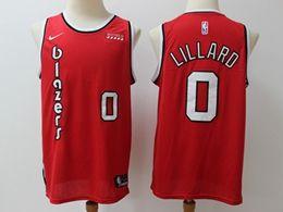 Mens Nba Portland Trail Blazers #0 Damian Lillard Red Hardwood Classics Nike Swingman Jersey