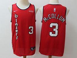 Mens Nba Portland Trail Blazers #3 C.j. Mccollum Red Hardwood Classics Nike Swingman Jersey