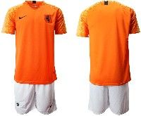 Mens 19-20 Soccer Holland Ntaional Team ( Custom Made ) Orange White Home Nike Short Sleeve Suit Jersey