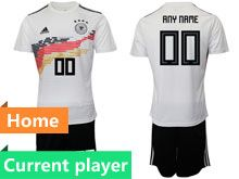 Mens 19-20 Soccer Germany Ntaional Team Current Player White Home Adidas Short Sleeve Suit Jersey