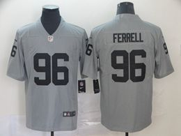 Mens Nfl Oakland Raiders #96 Clelin Ferrell Gray Nike Inverted Legend Vapor Untouchable Limited Jersey