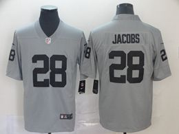 Mens Women Nfl Oakland Raiders #28 Josh Jacobs Gray Nike Inverted Legend Vapor Untouchable Limited Jersey