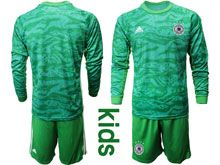 Youth 19-20 Soccer Germany Ntaional Team ( Custom Made ) Green Goalkeeper Short Sleeve Suit Jersey