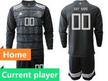 Mens Soccer 19-20 Mexico National Team Current Player Black Goalkeeper Long Sleeve Suit Jersey