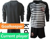 Youth Soccer 19-20 Mexico National Team Current Player Stripe Black Goalkeeper Long Sleeve Suit Jersey