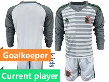 Youth Soccer 19-20 Mexico National Team Current Player Gray Goalkeeper Long Sleeve Suit Jersey