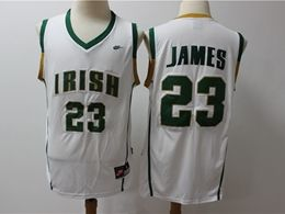 Mens Ncaa Nba Notre Dame Fighting Irish #23 Lebron James White High School Edition Nike Jersey