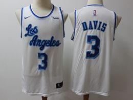 Mens Nba Los Angeles Lakers #3 Anthony Davis White Nike Swingman 2019-20 Classic Edition Jersey