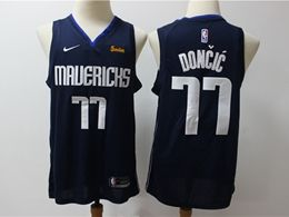 Mens Nba Dallas Mavericks #77 Luka Doncic Dark Blue Swingman Nike Jersey