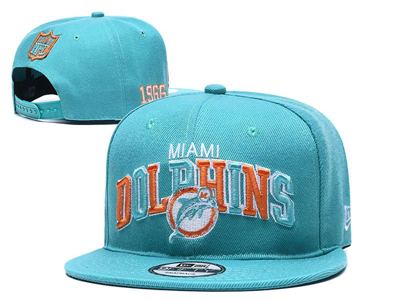 Mens Nfl Miami Dolphins Blue Miami Dolphins Letter Snapback Adjustable Hats