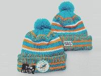 Mens Nfl Miami Dolphins Orange&green Official Historic Logo 100th Sport Knit Hats