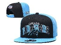 Mens Nfl Carolina Panthers Blue&black Carolina Panthers Letter Snapback Adjustable Hats