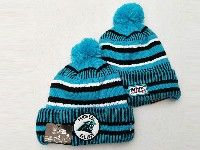 Mens Nfl Carolina Panthers Blue&black Official Historic Logo 100th Sport Knit Hats