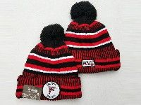 Mens Nfl Atlanta Falcons Black&red Official Historic Logo 100th Sport Knit Hats