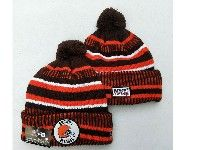 Mens Nfl Cleveland Browns Brown&orange Official Historic Logo 100th Sport Knit Hats