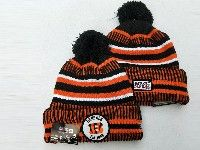 Mens Nfl Cincinnati Bengals Black&orange Official Historic Logo 100th Sport Knit Hats