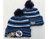 Mens Nfl Tennessee Titans Dark Blue&blue Official Historic Logo 100th Sport Knit Hats