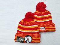 Mens Nfl Kansas City Chiefs Orange&red Official Historic Logo 100th Sport Knit Hats