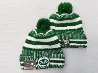 Mens Nfl New York Jets White&green Official Historic Logo 100th Sport Knit Hats