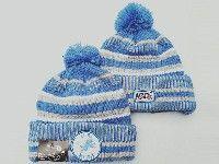 Mens Nfl Detroit Lions White&blue Official Historic Logo 100th Sport Knit Hats
