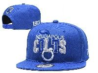 Mens Nfl Indianapolis Colts Blue Indianapolis Colts Letter Snapback Adjustable Hats