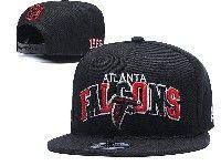 Mens Nfl Atlanta Falcons Black Atlanta Falcons Letter Snapback Adjustable Hats