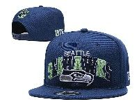 Mens Nfl Seattle Seahawks Blue Seattle Seahawks Letter Snapback Adjustable Hats