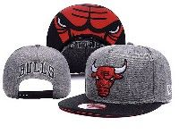 Mens Nba Chicago Bulls Gray Chicago Adjustable Hats