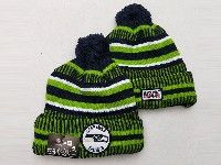 Mens Nfl Seattle Seahawks Blue&green Official Historic Logo 100th Sport Knit Hats