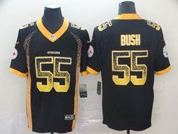 Mens Nfl Pittsburgh Steelers #55 Devin Bush Black Drift Fashion Vapor Untouchable Limited Jersey