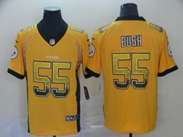 Mens Nfl Pittsburgh Steelers #55 Devin Bush Yellow Drift Fashion Vapor Untouchable Limited Jersey