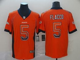 Mens Nfl Denver Broncos #5 Joe Flacco Orange Drift Fashion Vapor Untouchable Limited Jersey