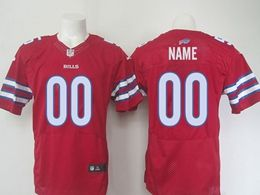 Nfl Buffalo Bills (custom Made) Red Elite Jersey